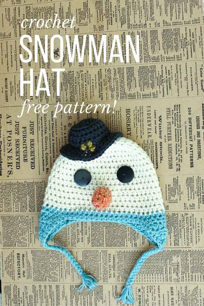Free Crochet Snowman Hat Pattern Make Do Crew