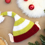 Santa's Helper Crochet Elf Hat Pattern (With Ears!)