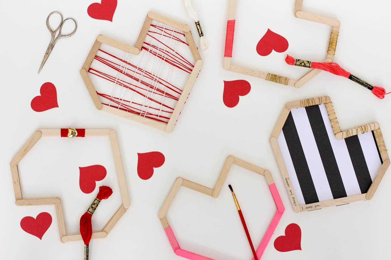 Diy Valentines From Popsicle Sticks Make Them With Kids