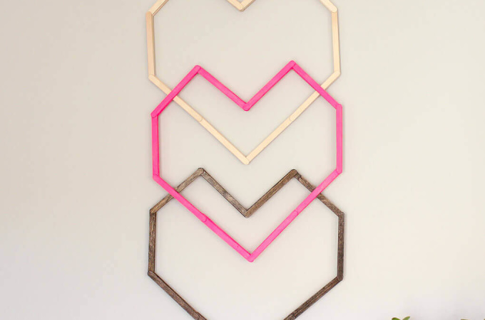 Geometric Heart DIY Wall Art