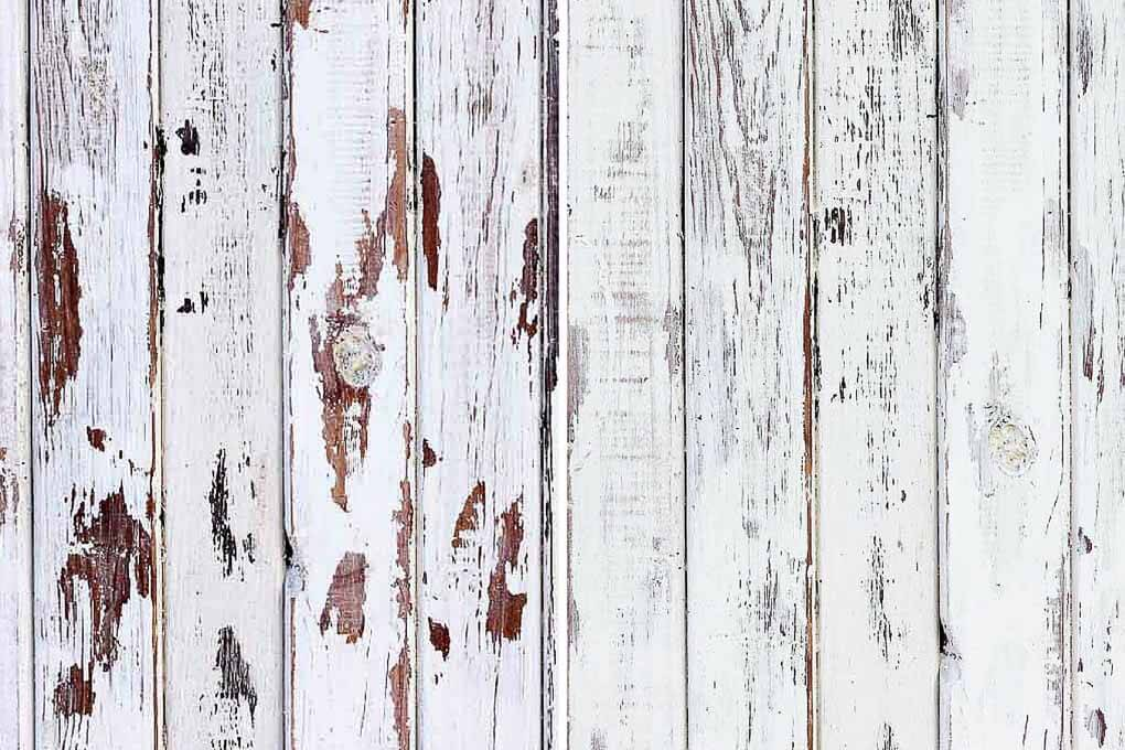 A simple tutorial that shows you how to distress wood with paint and coconut oil. This technique is similar to using Vaseline to make your paint look weathered, distressed and shabby chic. Click for the step by step. I used it to make a blog photography backdrop. | MakeAndDoCrew.com