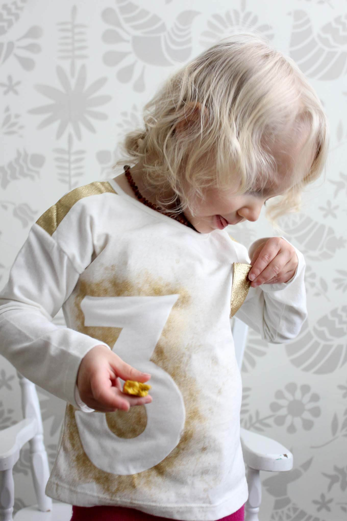 This DIY Birthday Shirt Is A Memorable Craft Idea To Make With Your Child For Their
