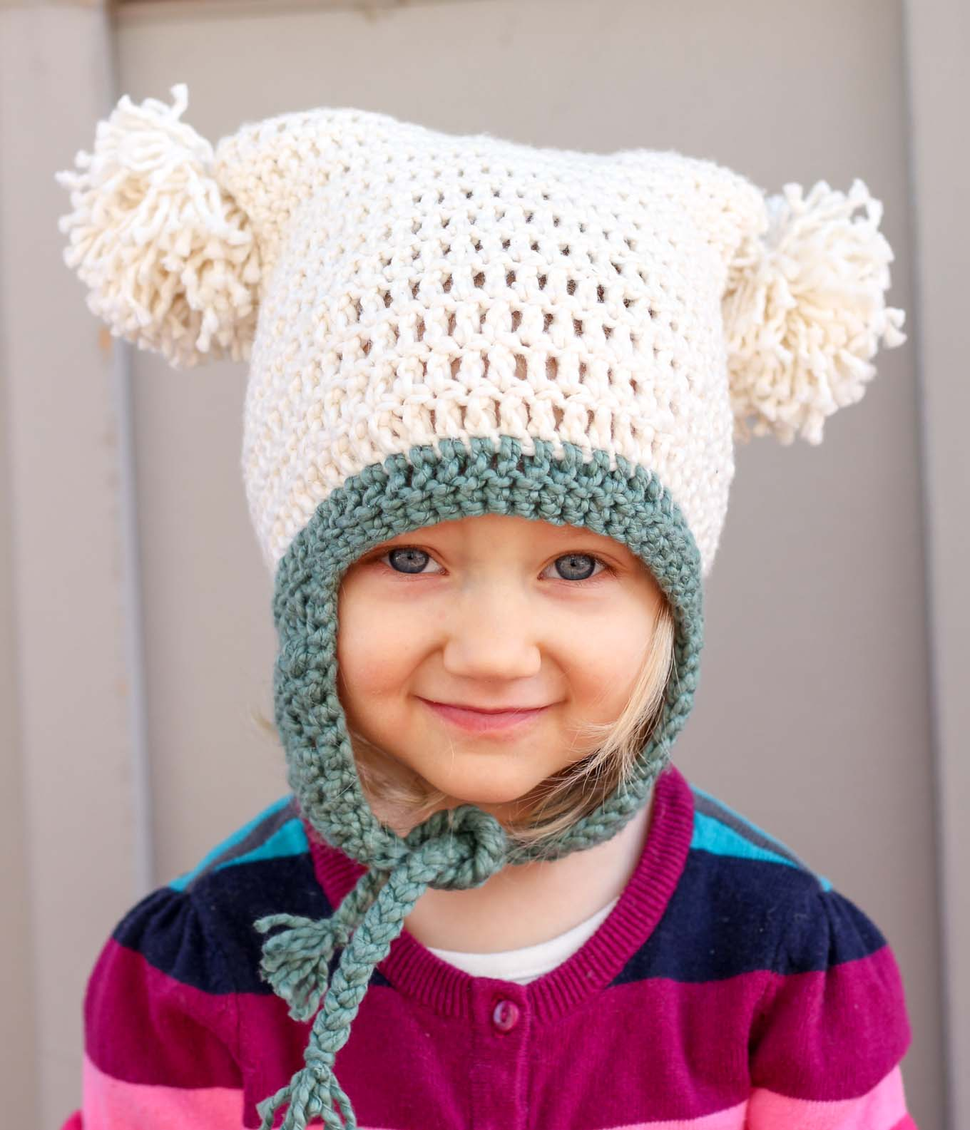One hour free crochet hat pattern for beginners tutorial pom pom party free beginner crochet hat pattern newborn adult bankloansurffo Images