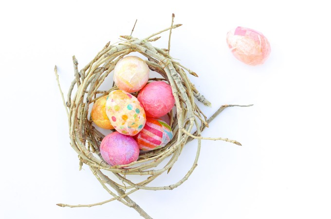 DIY Easter Egg Craft to Upgrade Plastic Eggs