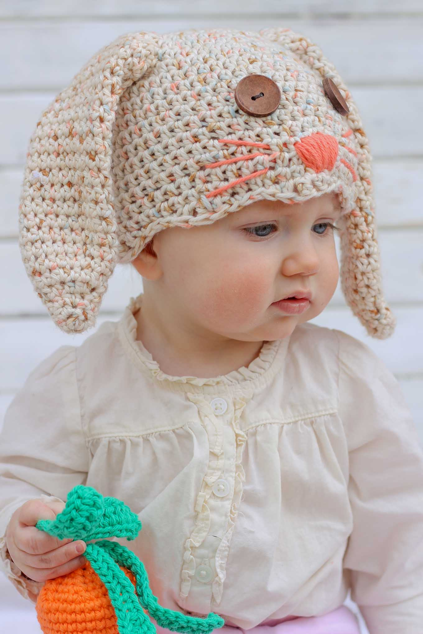 Free crochet bunny hat pattern newborn toddler make do crew free crochet bunny hat pattern toddler 4 bankloansurffo Choice Image