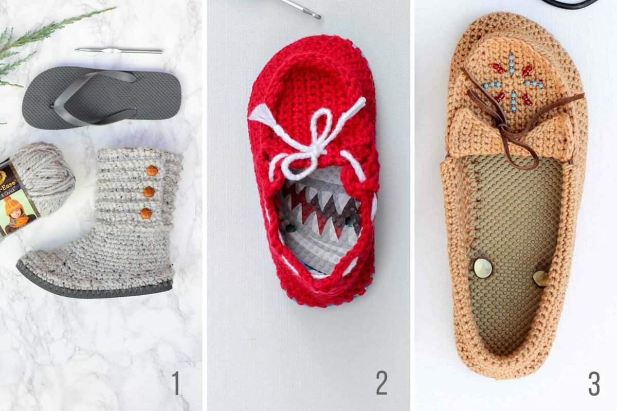 Crochet shoes flip flops free patterns 1 make do crew free crochet patterns using flip flops for soles makeanddocrew bankloansurffo Gallery