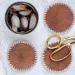DIY Leather + Crochet Coasters – Free Pattern