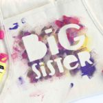 "New Big Brother or Big Sister Gift Idea: Hand Painted ""Helper"" Aprons"