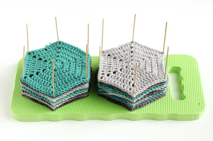How to block crochet with an easy DIY blocking board