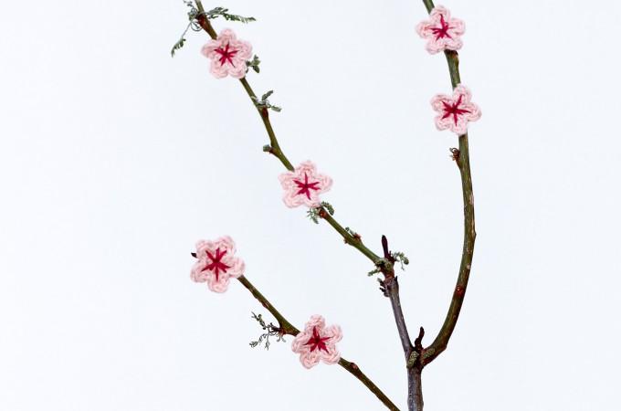 Free Crochet Cherry Blossom Flower Pattern