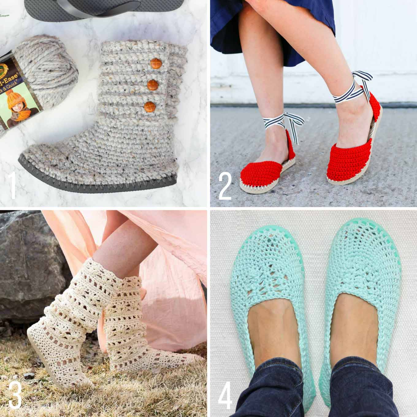 cdd3dea59211a Crochet Shoes With Flip Flop Soles - Free Moccasin Pattern!