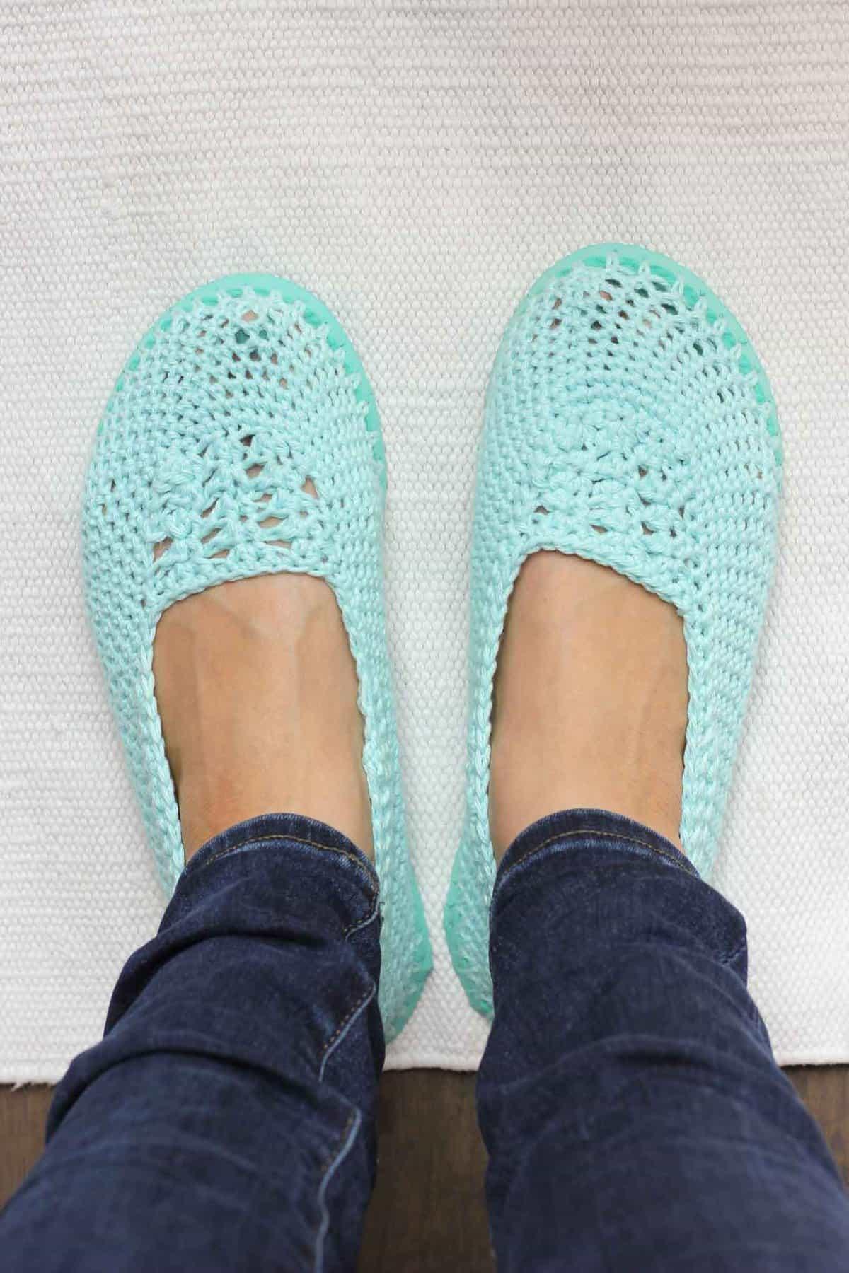 Free Crochet Slipper Pattern Thong Soles 17 Make Do Crew
