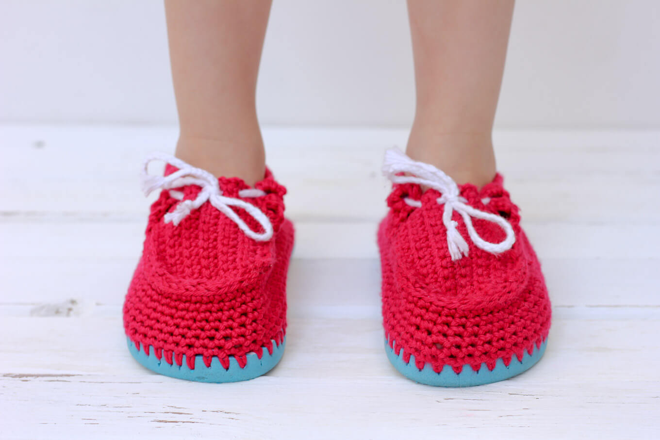 Turn cheap flip flops into crochet toddler slippers with this free pattern. The boat shoe style works well for girls and boys. Quick and portable project!