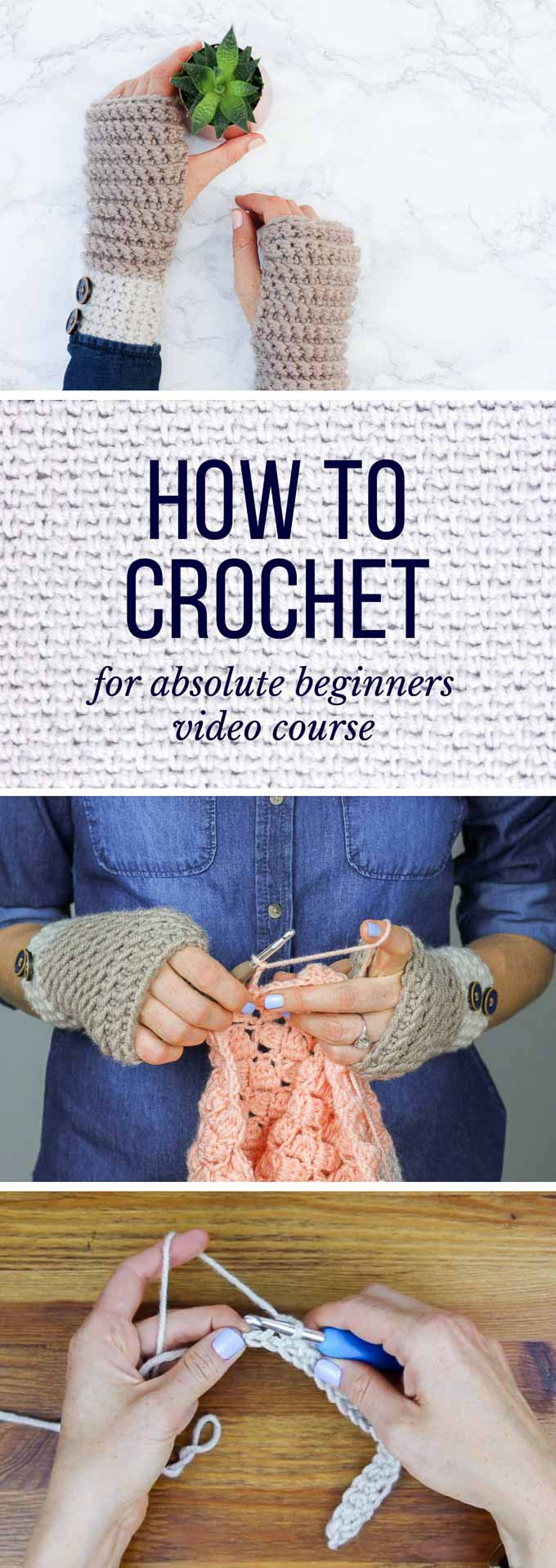 Tutorials On How To Crochet For Beginners : How-to-learn-how-to-crochet-beginners - Make & Do Crew