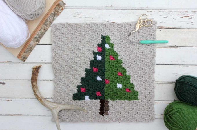Corner to Corner Crochet Christmas Tree — Free Pattern