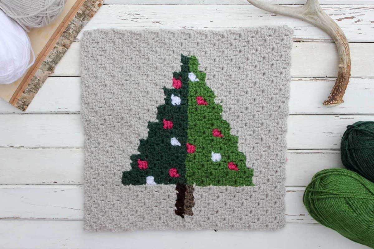 Crochet Christmas Tree.Corner To Corner Crochet Christmas Tree Free Pattern