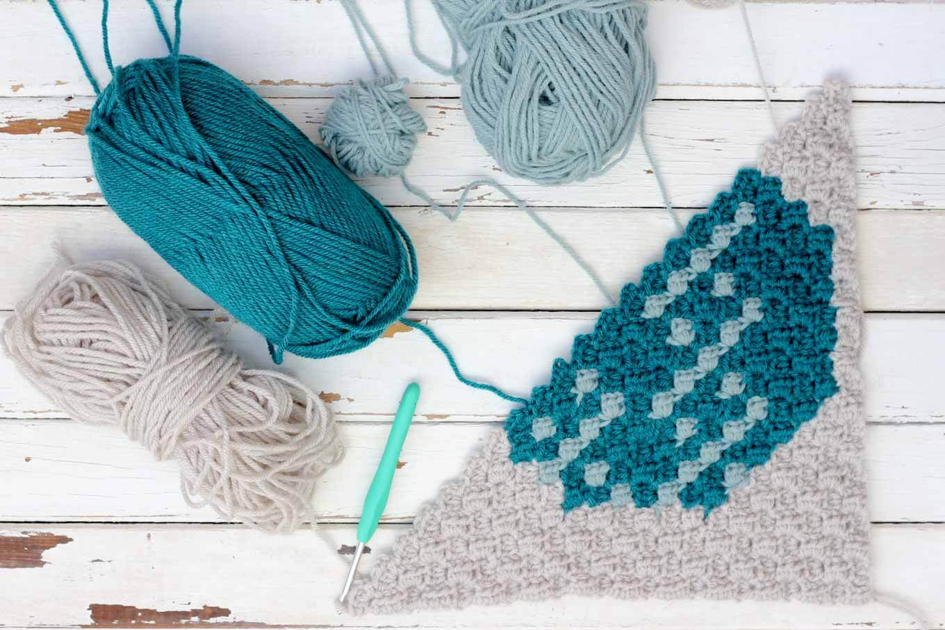 How to learn c2c crochet for beginners.