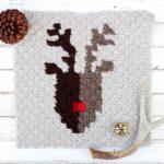 Corner To Corner Crochet Free Reindeer Graph