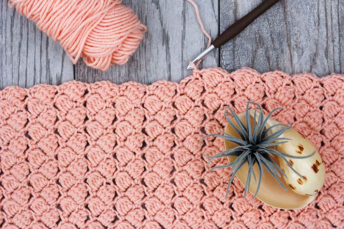 How to crochet the side saddle cluster stitch video tutorial.