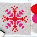 Snowflake Pattern – Free c2c Crochet Graph