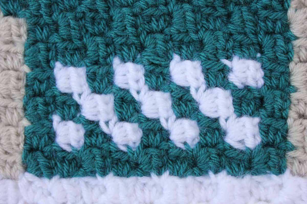 Modern crochet with c2c (corner to corner) technique