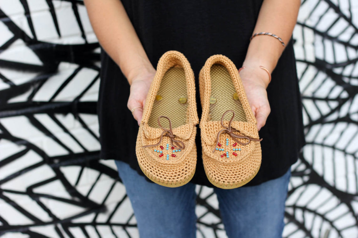 Free pattern describing how to turn cheap flip flops into crocheted shoes or slippers. These are super comfortable and a really fun DIY gift idea!