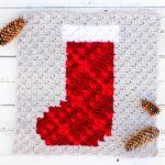 Free Corner to Corner Crochet Stocking Pattern