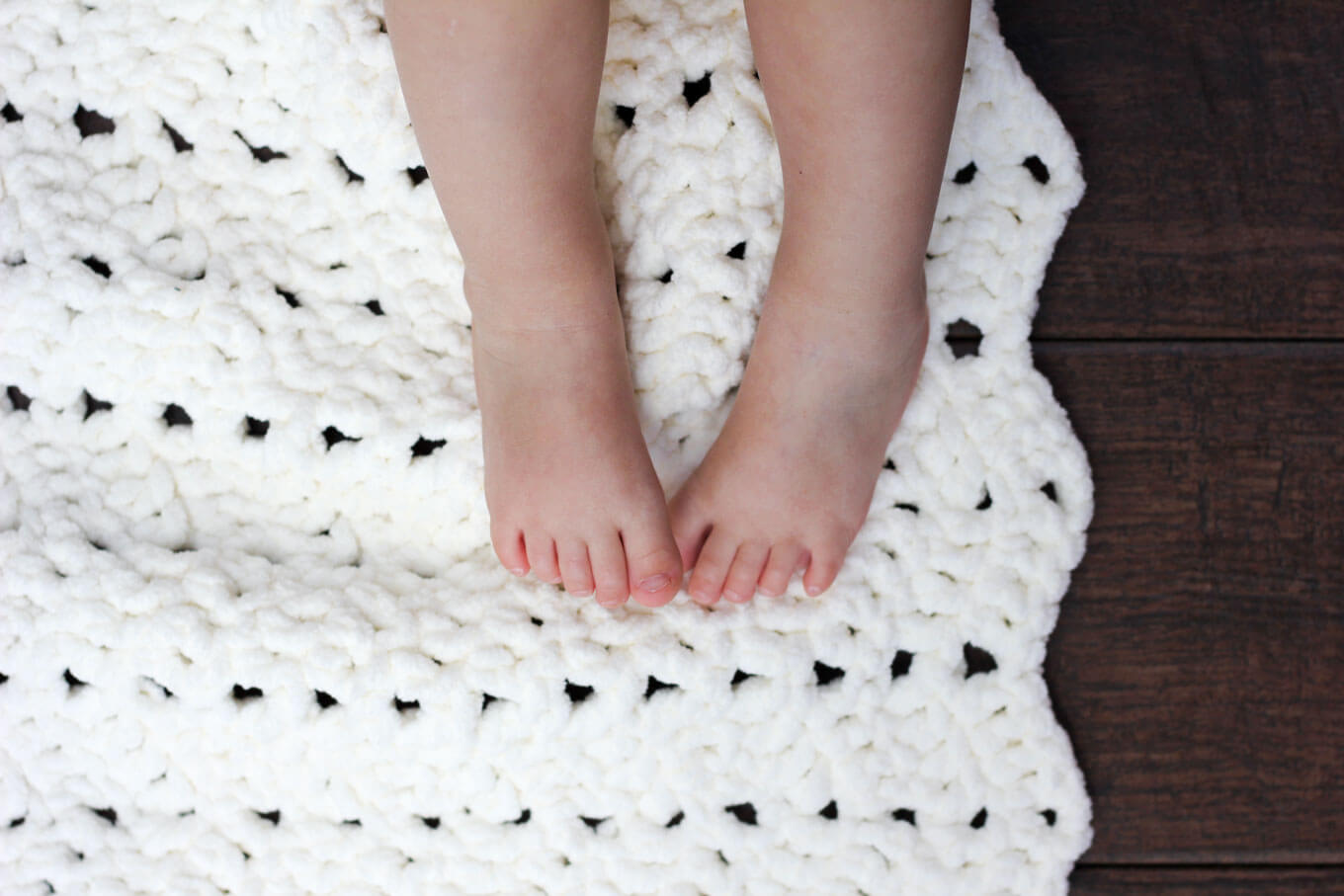 Free Easy Crochet Baby Blanket Free Pattern Make Do Crew