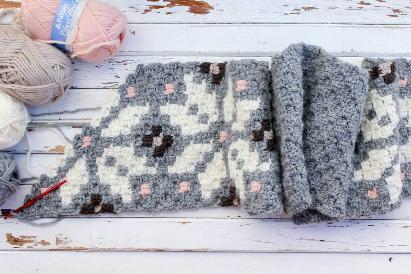 Nordic Crochet Super Scarf Free Pattern » Make & Do Crew