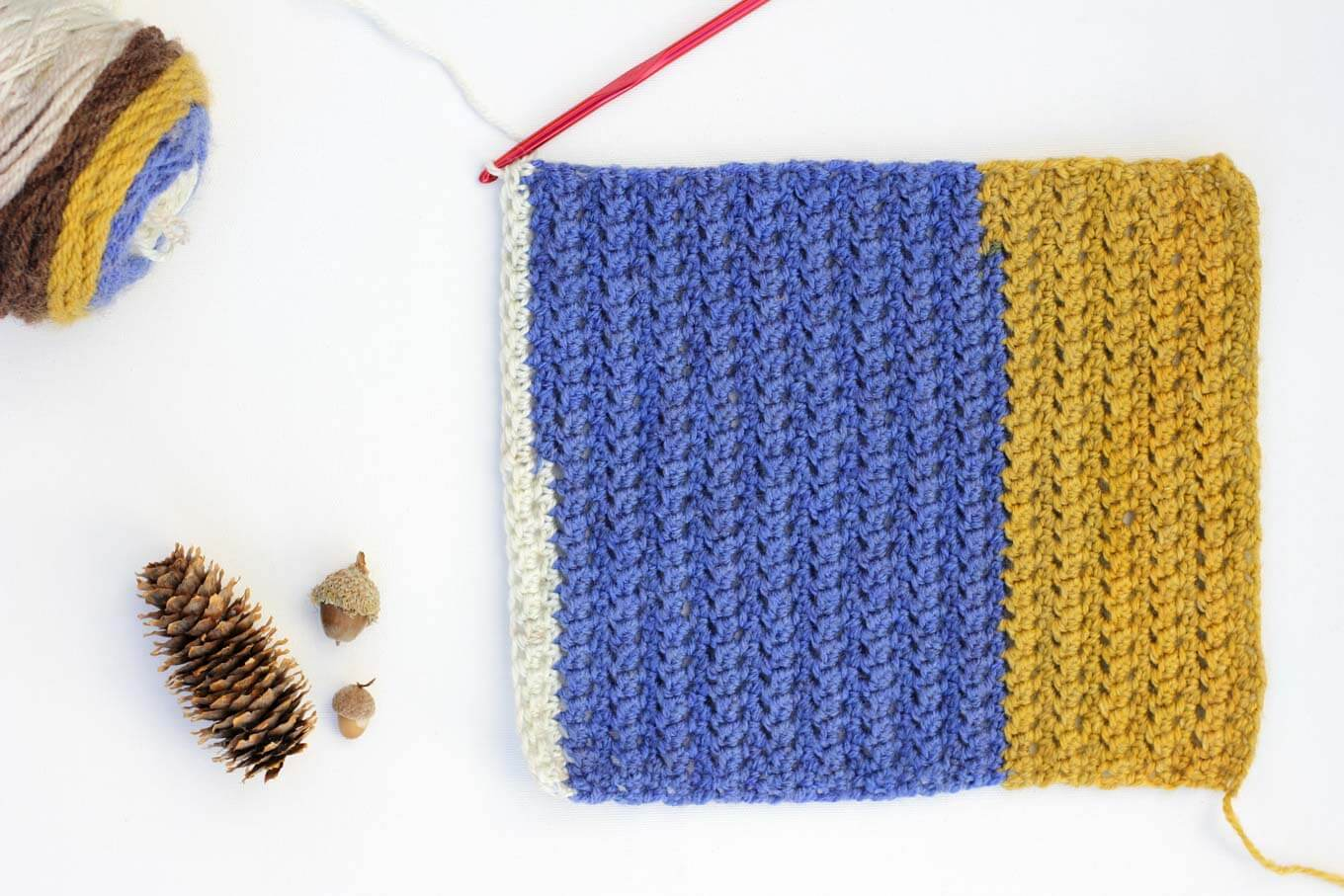 "This easy, modern ""Piece of Cake Cowl"" is going to become your go-to accessory for fall and winter! Plus, this Caron Cakes Yarn free crochet pattern is simple to make even if you're not an experienced pattern-reader. Simple one-skein crochet project! Caron Cakes color ""Blue Icing."""