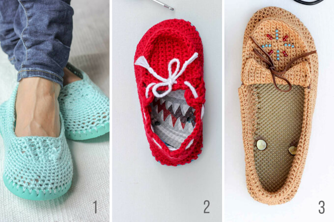 ea691b67954c4 How to Crochet Boots with Flip Flops - Free Pattern + Video Tutorial