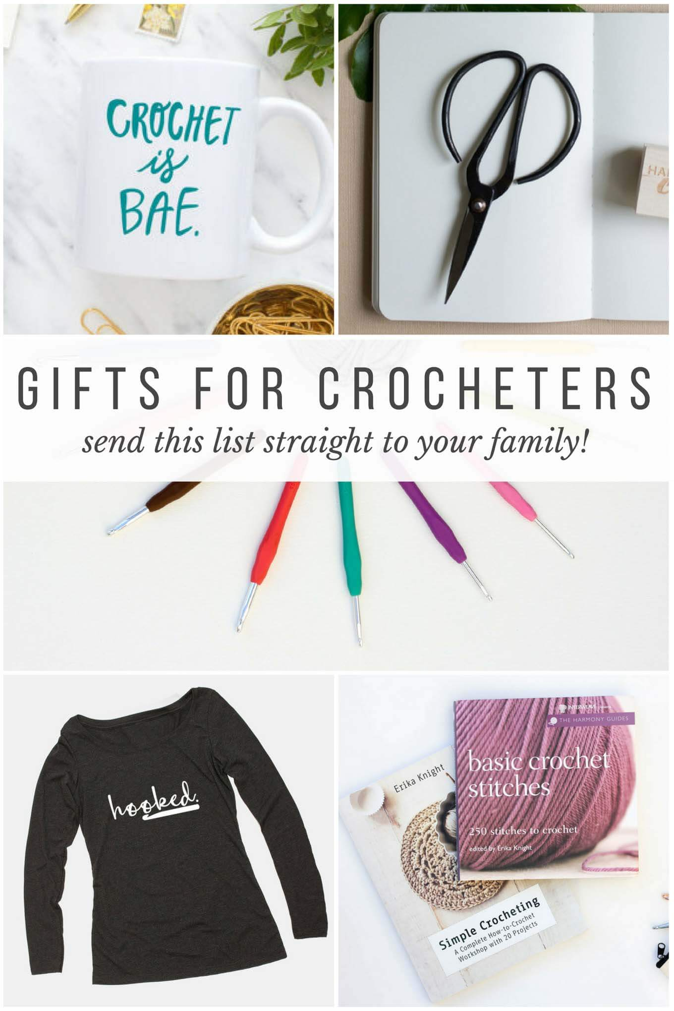 Wondering what to get your favorite crocheter for Christmas, Mother's Day or their birthday? From hooks to books, this list of gifts for crocheters has you covered! Click to view the entire crochet gift guide.