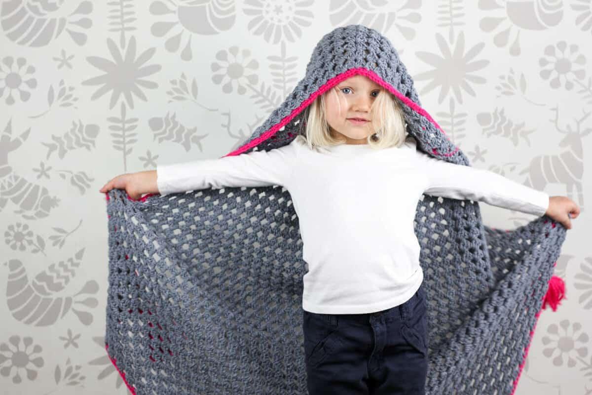 Hooded Baby Blanket Free Crochet Pattern 5 Make Do Crew
