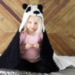 Crochet Panda Hooded Baby Afghan – Free Pattern