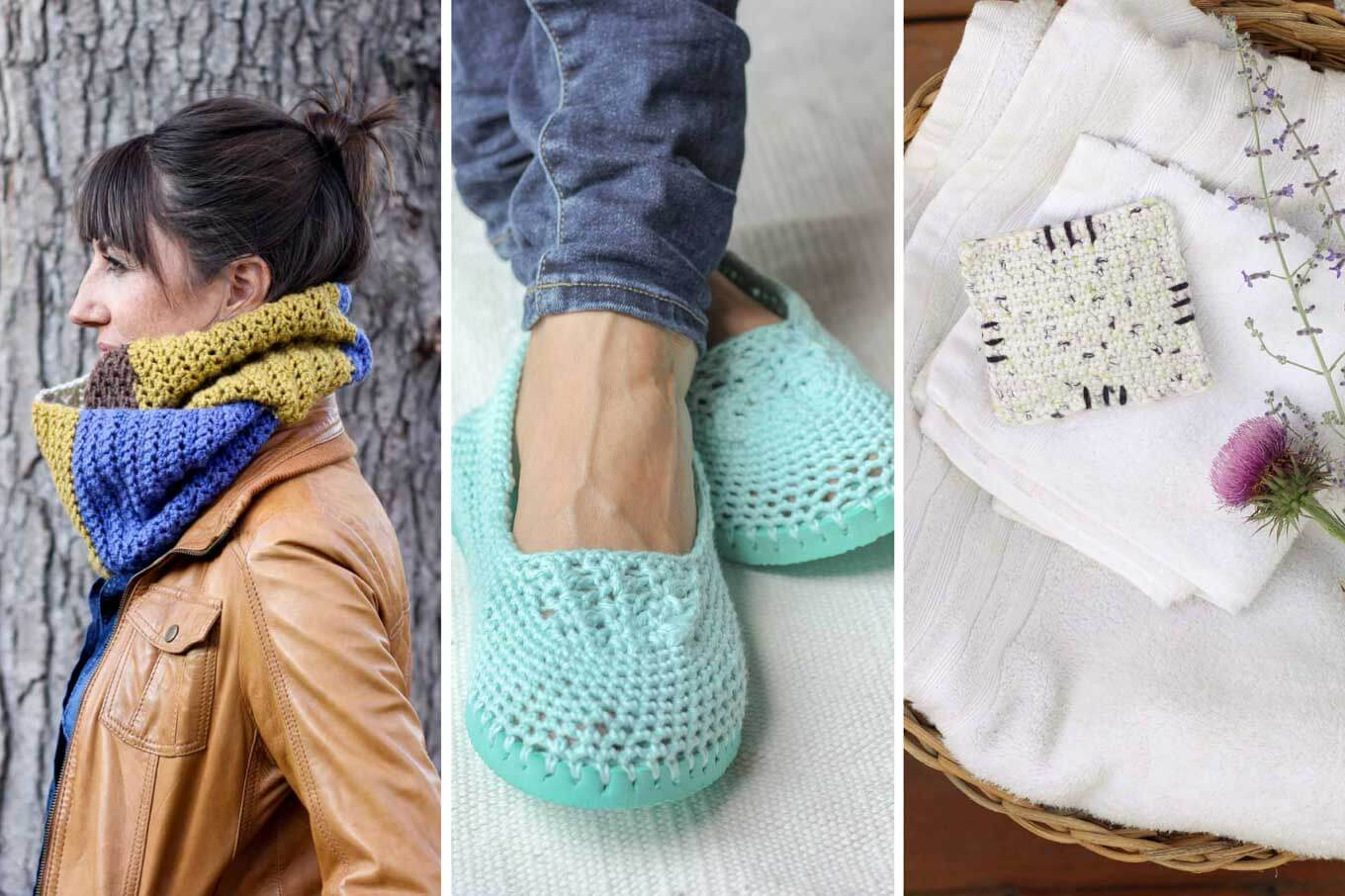 These modern crochet gift ideas can all be make for under $5, which means you can give gifts that are thoughtful, stylish AND inexpensive. Click to view the free patterns.