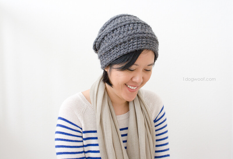 Free crochet beanie pattern from 1 Dog Woof
