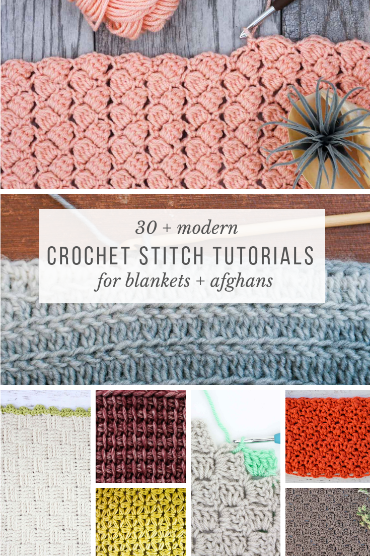 These crochet stitches for blankets and afghans are the perfect place to find a tutorial for your next project. Includes many video tutorials too!