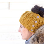 Faux Cabled Crochet Bun Beanie – Free Pattern + Video Tutorial