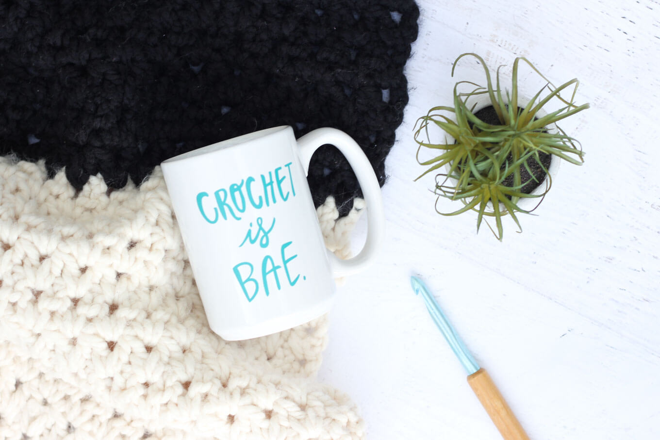 "Great crochet gift idea - ""Crochet is BAE"" mug from TL Yarn Crafts"