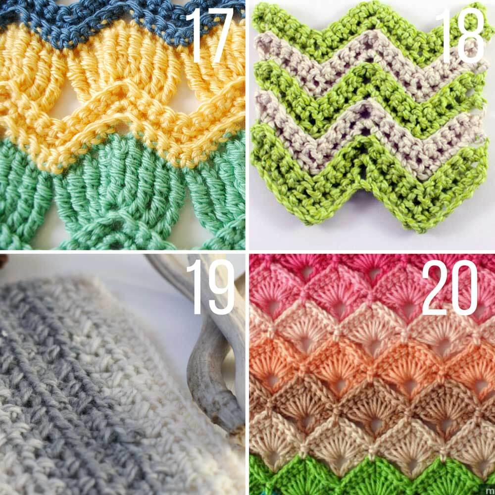 30+ Crochet Stitches For Blankets and Afghans - Many with