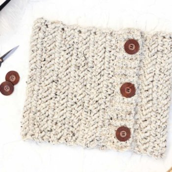 Adding buttons to a crochet project