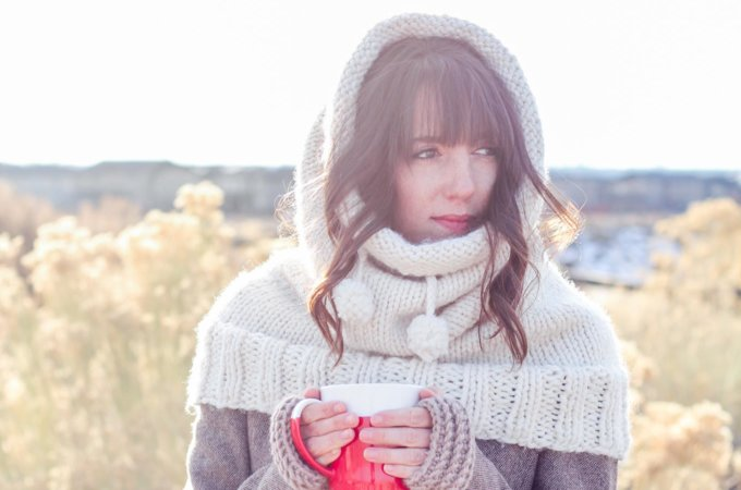 """The Huggle"" Hooded Cowl – Free Knitting Pattern"