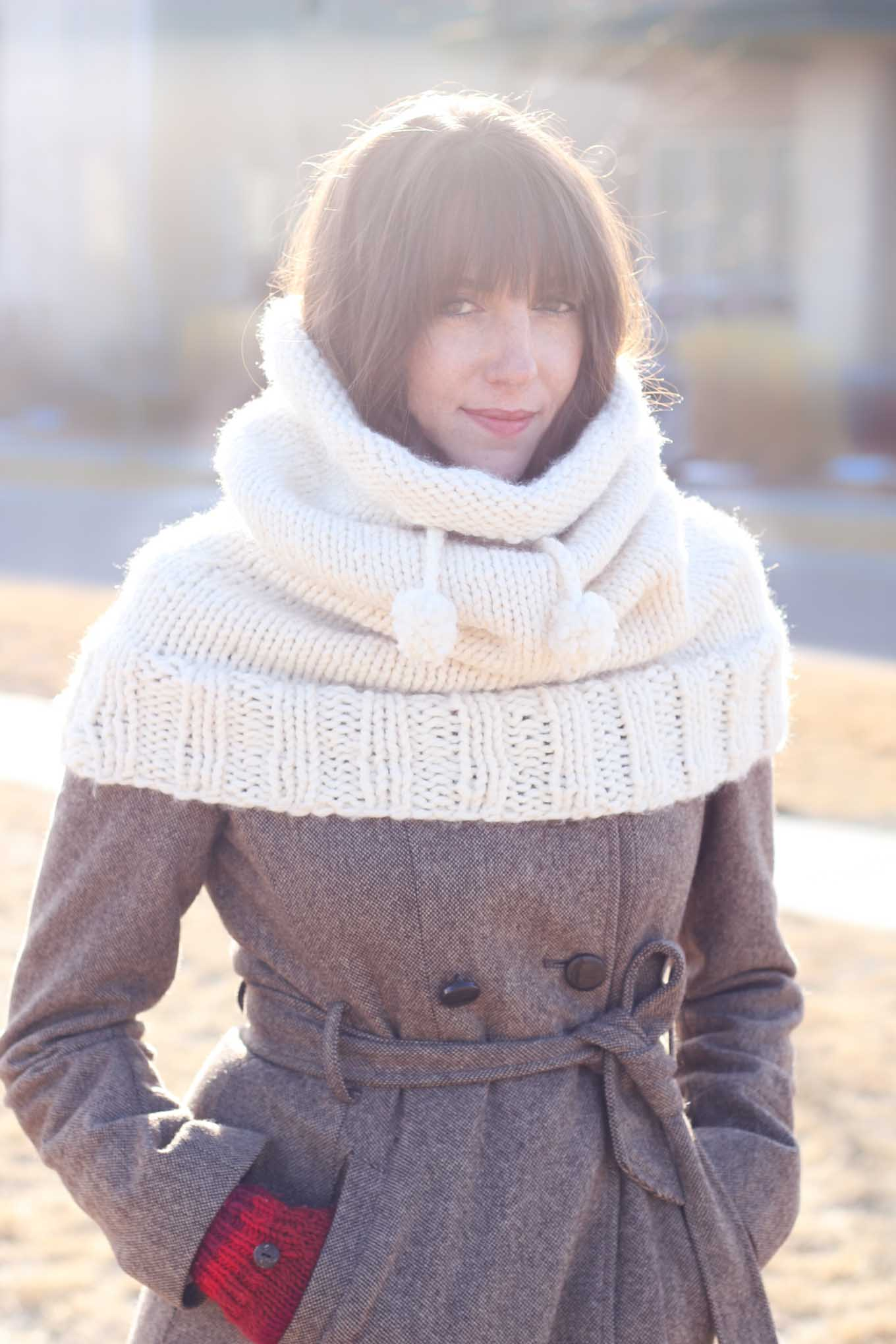 Hooded Cowl Knit Pattern :