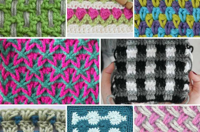 20+ Multi-Color Crochet Stitch Tutorials
