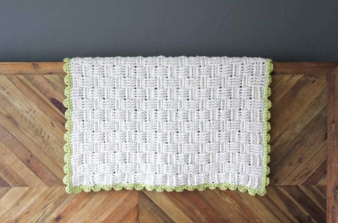 """""""Lineage"""" Crochet Basket Weave Blanket – Free Pattern"""