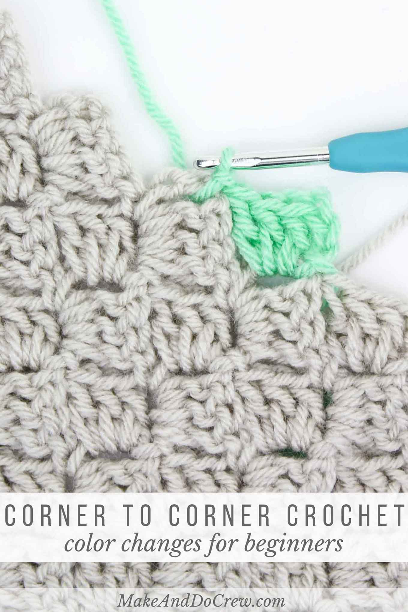 How To Change Colors In Corner To Corner Crochet
