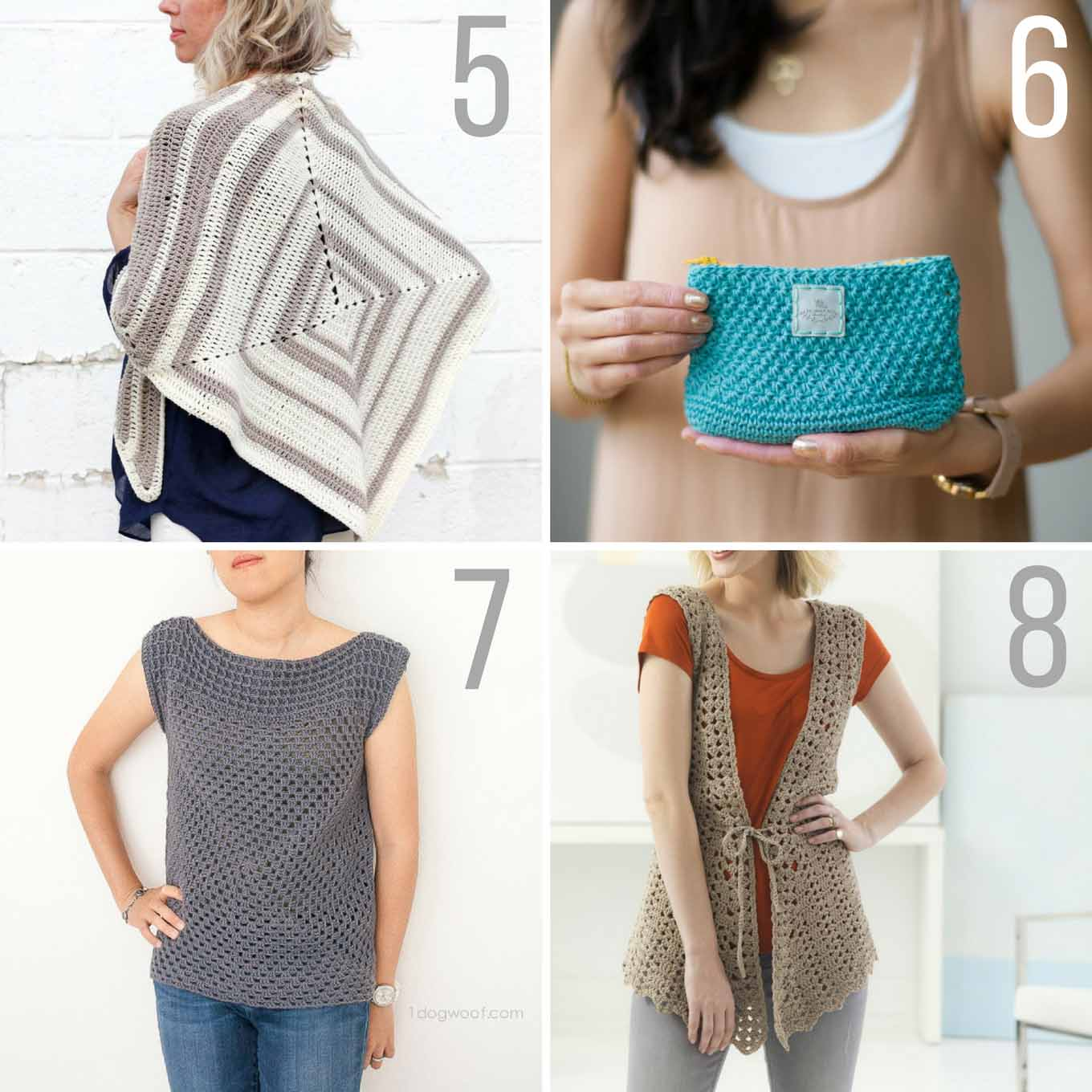 No crochet hibernation! This collection of popular spring and summer crochet patterns using Lion Brand yarn will give you plenty of ways to stay busy during the warmer months--and best of all, they're all free! Crochet vests, crochet purses and simple shirts included!
