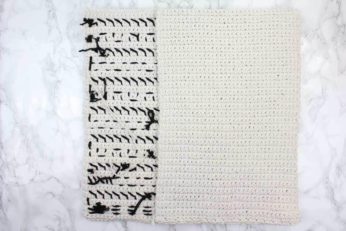 How to make a crochet pillow.