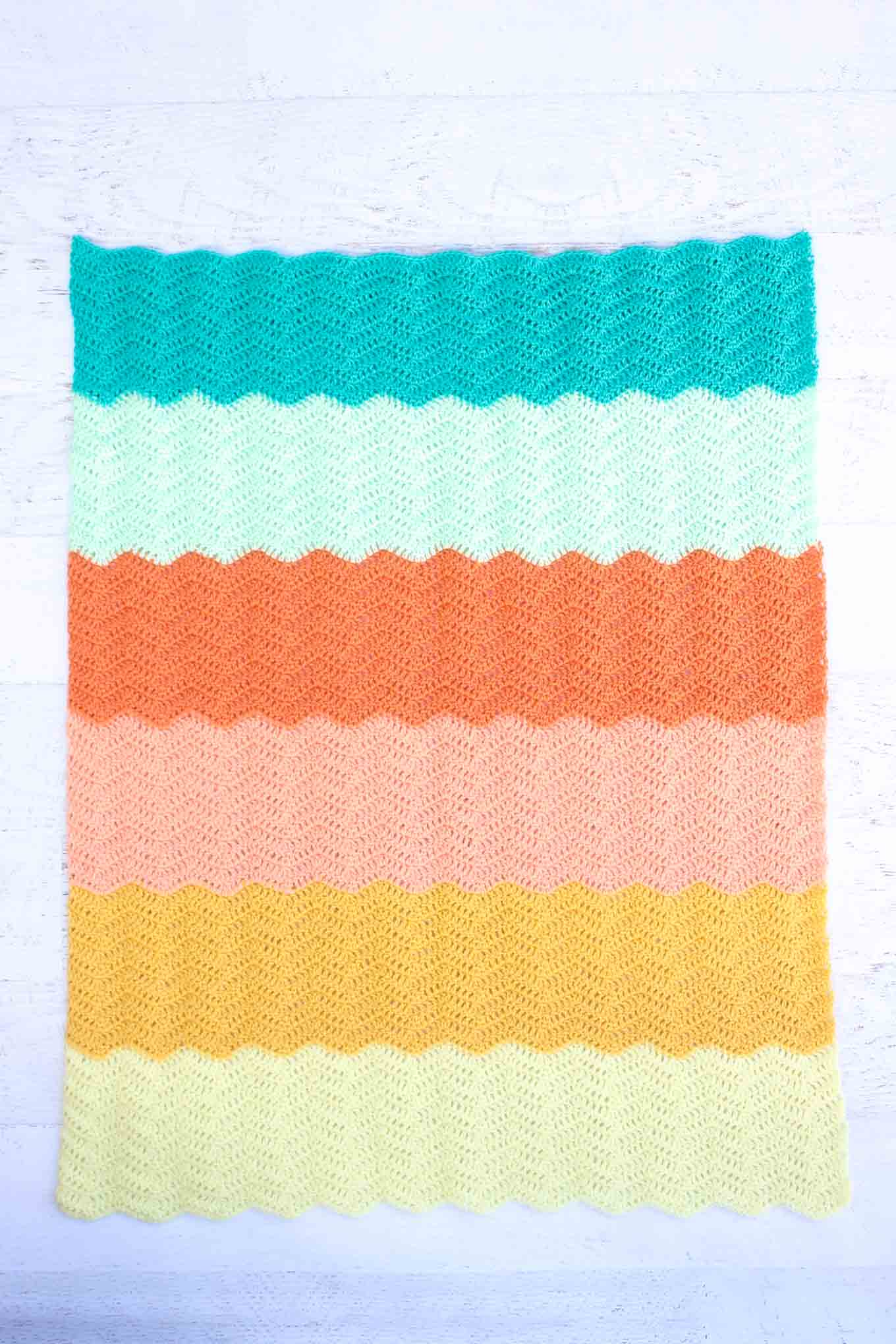 Ripple Crochet Baby Blanket Free Pattern 12 Make Do Crew