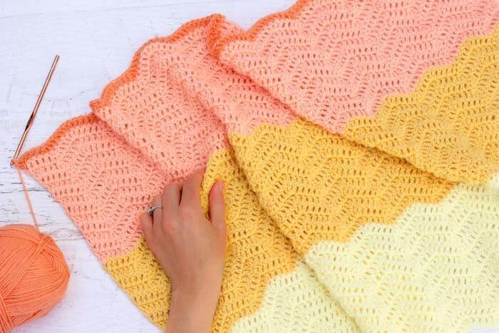 Ripple Crochet Baby Blanket Free Pattern 3 Make Do Crew